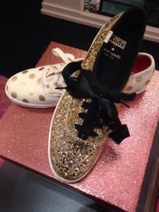 Keds for Kate Spade in Gold Glitter