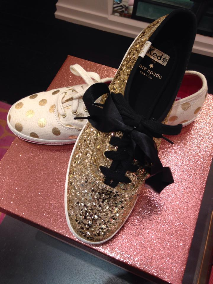 Keds for Kate Spade in Gold Glitter