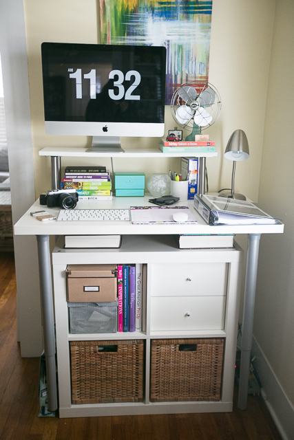 Standing Desk Expedit Ikea Hack