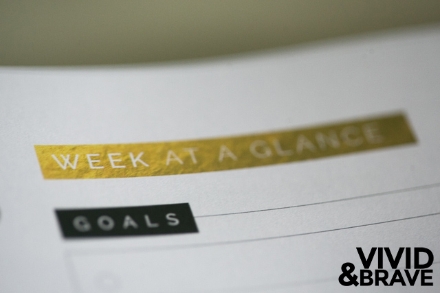 Week at a Glance - Big Picture Planner by Design Aglow