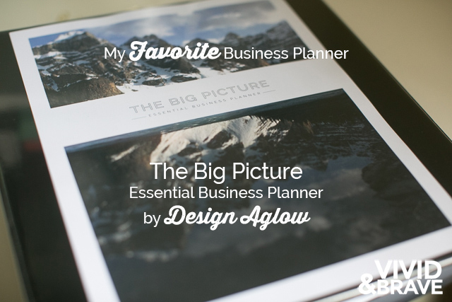 My Review of My Favorite Business Planner - The Big Picture by Design Aglow #vividandbrave