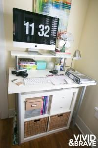 The Big Planner at my Ikea Standing Desk