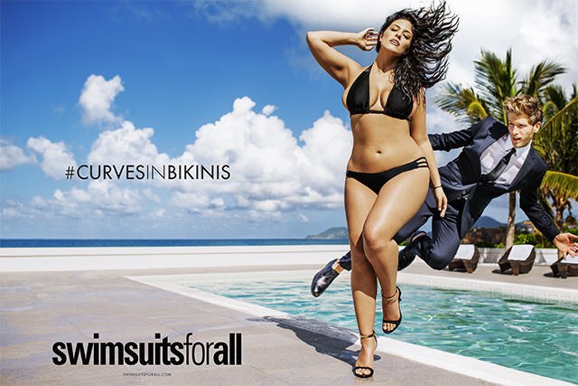 Ashley Graham, Curves in Bikinis ad