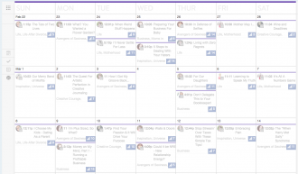 CoSchedule Calendar - Vivid & Brave
