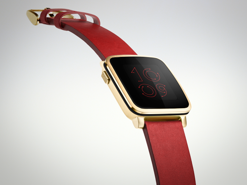 Apple Watch in Red and Gold