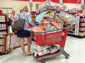 Lilly at target shopper