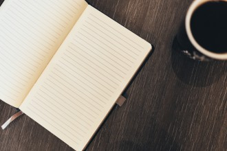 Lined Notebook with Coffee