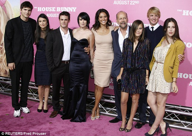 Blended Family, Bruce Willis, Demi Moore, Ashton Kutcher